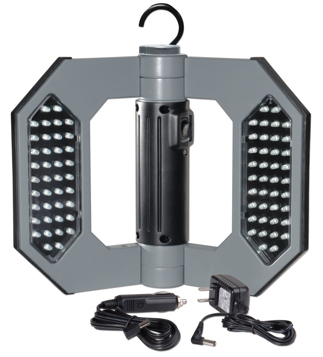 Portable 60 Leds 350lm Rechargeable Cordless Work Light: Cooper Lighting LED130 Might D Light 80 LED Cordless